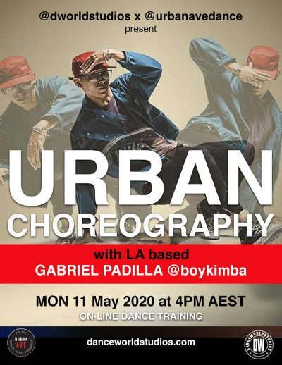 0nline Urban Choreography classes special guest GABRIEL PADILLA