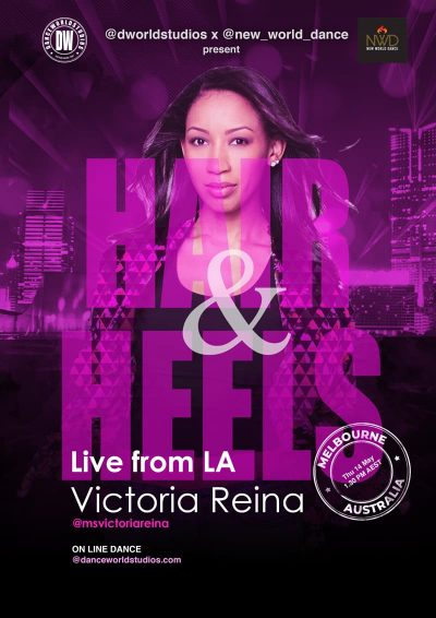Live from LA Victoria Reina Online Hair and Heels class