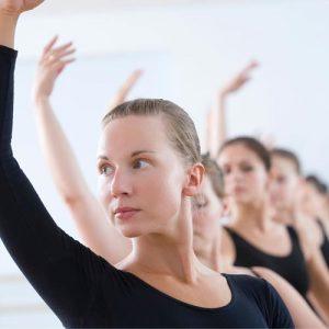 Adult dance students in class