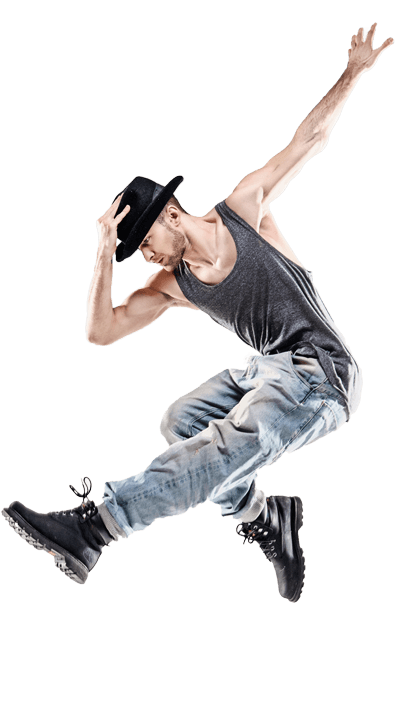 Male Student dancer training in Advanced Associate dance course
