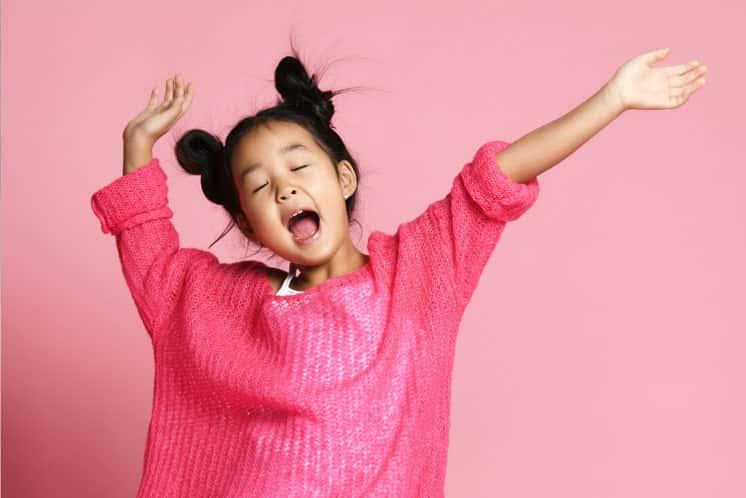 Under 8 dance student